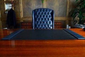 Empty executive desk